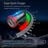 Essager Car Charger Quick Charge 4.0 3.0 USB PD Charger QC 3.0 4.0 Fast Charging For Xiaomi Huawei Supercharge Car Phone Charger - 88digital