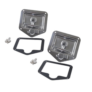 Folding T Handle Lock Stainless Steel Flush Mount Tool Box Lock Trailer Truck Paddle Latch - 88digital