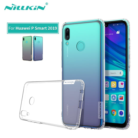 For Huawei P Smart Case Nillkin Nature Transparent Clear Soft silicon TPU Protector cover For Huawei P Smart 2019 Case 6.21 inch - 88digital