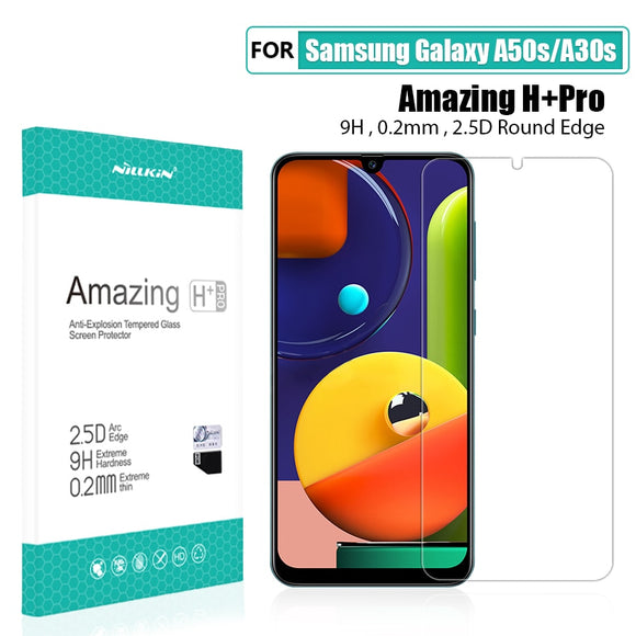For Samsung Galaxy A50s Glass Screen Protector 6.4'' NILLKIN Amazing H/H+PRO Tempered Glass for Samsung Galaxy A30s - 88digital