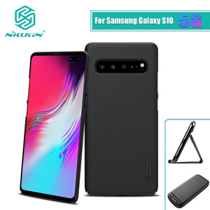 For Samsung Galaxy S10 Case Cover 5G Frosted PC Matte hard back cover Gift Phone Holder For Galaxy s10 5g case 6.7 inch - 88digital