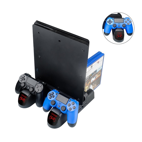 For Sony Playstation 4 PS4 / PS4 Pro /PS4 Slim Controller Stand Charger Dock Dual Controller Charger LED Charging Dock Station - 88digital