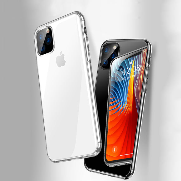 For iPhone 11 2019 Case Slim Clear Soft TPU Cover Support Wireless Charging for iPhone 11 Pro Max 5.8inch 6.1inch 6.8inch New - 88digital