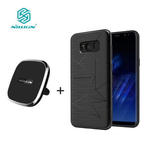 For samsung galaxy s8 s8 plus NILLKIN qi wireless charger pad + Magnetic wireless charger receiver cover Portable Charger pad - 88digital