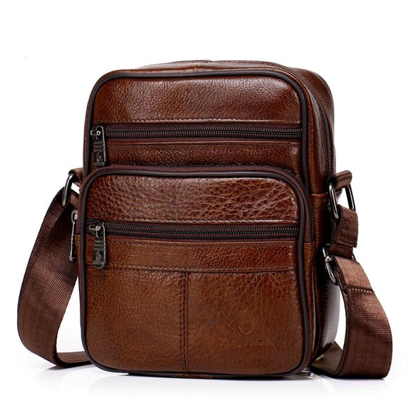 Genuine Leather Crossbody Men Messenger Bag Hot Sale Male Small Man Flap Fashion Shoulder Bags Men's Travel New Handbags - 88digital