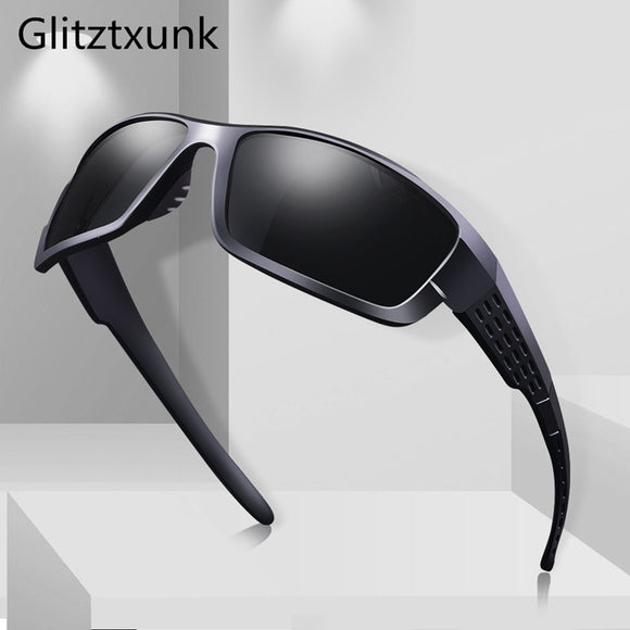 Glitztxunk Polarized Sunglasses Men Women Square Brand Design Classic Male Black Sports Sun Glasses For Men Drive Goggle gafas - 88digital