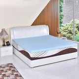 "Goplus 3""/7.6cm Gel Antimicrobial Memory Foam Mattress King Size/Queen Size Bed Mat Pad Topper Blue Bed Cooling Mattress - 88digital"