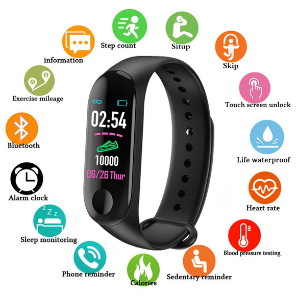 Doolnng Men Smart Watch Heart Rate Blood Pressure Monitor Fitness Tracker Walker Activity Monitor SmartWatch Women Sleep Tracker