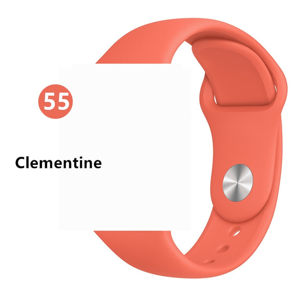 Silicone strap For Apple Watch band 38 or 40 mm S-M iwatch Band  Sport bracelet Rubber watchband for apple watch 5 4 3 2 1 #2