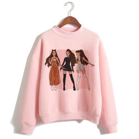 Female Print Hood Highstreet Ariana Grande Sweatshirt Clothes 7 Rings Women Hoodies Oversized Streetwear Hooded 2