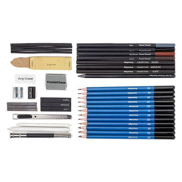42pcs Professional Sketching Drawing Set Full Kinds of Pencil  Graphite Charcoal Adult Beginner Sketch Drawing Art Supplies