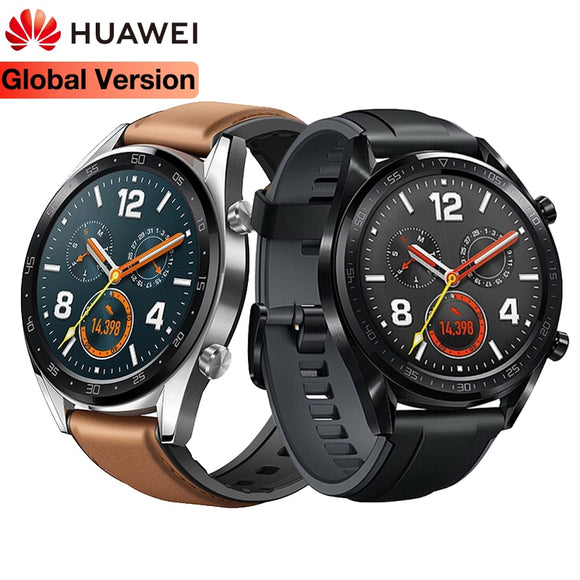 Original Global HUAWEI Smart Watch GT Waterproof Heart Rate Tracker Support GPS Man Sport Tracker SmartWatch For Android IOS