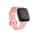 Baaletc For Fitbit Versa Silicone Adjustable Sport WristBand Breathable Watch Strap with Air Holes for Fitbit Versa 2 Bracelet