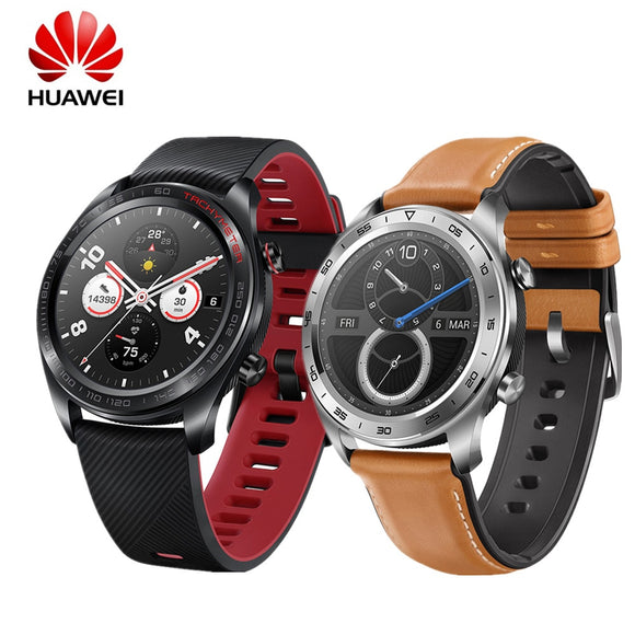 HUAWEI HONOR Watch Magic Glory Smart Watch Waterproof AMOLED Color Screen GPS NFC Smart Reminder Lava Black Smartwatch