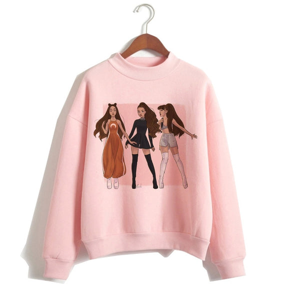 Female Print Hood Highstreet Ariana Grande Sweatshirt Clothes 7 Rings Women Hoodies Oversized Streetwear Hoodies 2