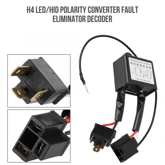 H4 Led Headlight Polarity Converter Fault Canceller Decoder Hid H4 Xenon Lamp Positive And Negative Converter - 88digital