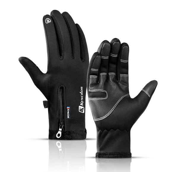 Touch Screen Bike Gloves Winter Thermal Windproof Warm Full Finger Cycling Gloves Waterproof Bicycle Glove For Men Women