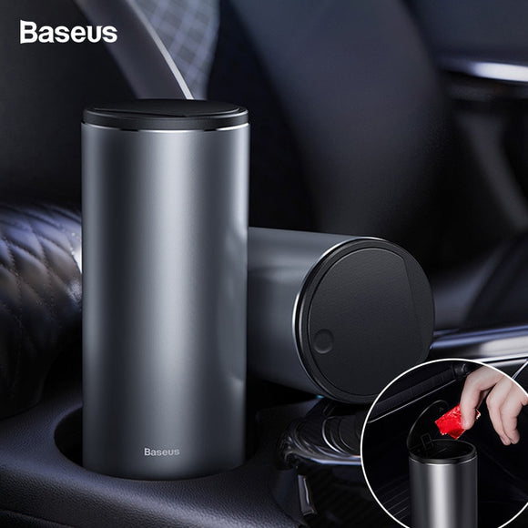 Baseus Universal Car Trash Can Garbage Bag Bin Holder Automobile Organizer Dustbin Storage Trashcan With Lid Accessories For Car