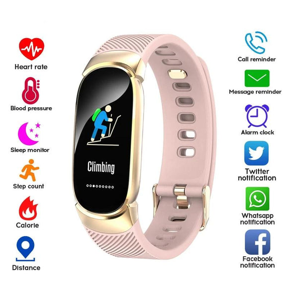 LYKRY Women Smart Watch Sport Pedometer Smartwatch Blood Pressure Oxygen Heart Rate Monitor Fitness Tracker Call Alarm Reminder
