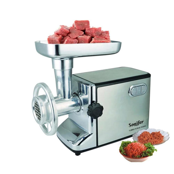 3000W Powerful Electric Meat Grinders Meat Mincer Stainless Steel Body Heavy Duty Household Mince Sonifer