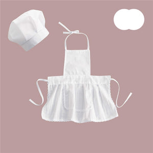 Baby Chef Apron Hat for Kids Costumes  Chef Baby  Cook Costume Newborn Photography Prop Newborn Hat Apron