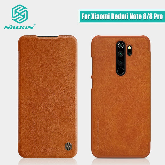 Redmi Note 8 case global version NILLKIN Vintage Qin Flip Cover wallet PU leather PC back cover For Xiaomi Redmi Note 8 Pro case - 88digital