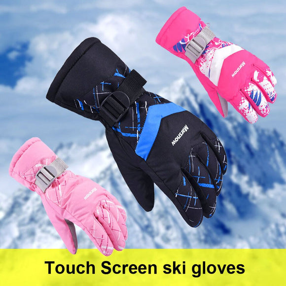Hot!Men/Women/Kids Ski Gloves Snowboard Gloves Ultralight Waterproof Winter Sonw Warm Fleece Motorcycle Snowmobile Riding Gloves