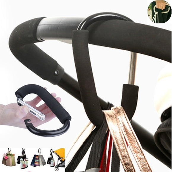 7Colors Baby Stroller Accessories Hook Stroller Organizer Shopping Hooks Pram Hanger For Baby Car Buggy Accessoire Poussette