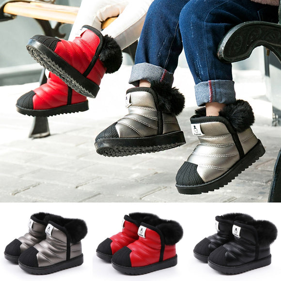 Baby Shoes Kids Boots Kids Snow Boots Waterproof Toddler Infant Baby Boys Girls Winter Warm Shoes Kids Children USA