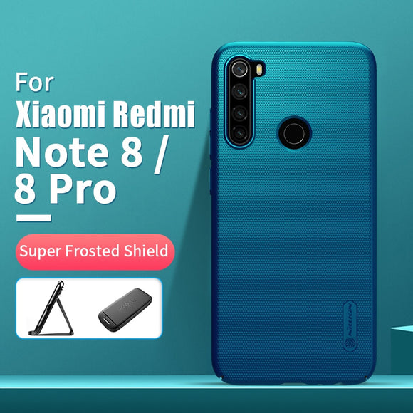 For xiaomi redmi note 8 case 6.3 NILLKIN Frosted PC Matte hard back cover Gift Phone Holder redmi note 8 pro case global version - 88digital