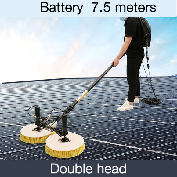 7.5m Double-Head lithium battery solar photovoltaic panel cleaning panel assembly cleaning equipment roof water brush power tool