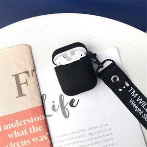 For AirPods Plastic Case Street Off AirPod Wireless Earphone Charging Cover Protective Cases With Strap
