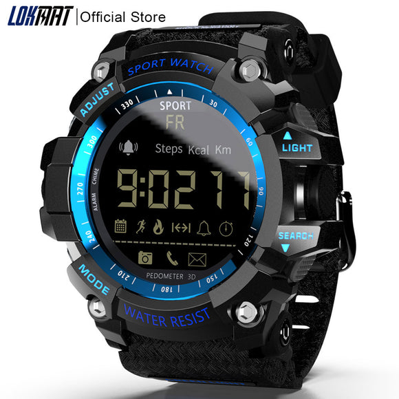 LOKMAT Smart Watch bluetooth digital men clock Pedometer smartwatch Waterproof IP67 Sport For ios Android Phone