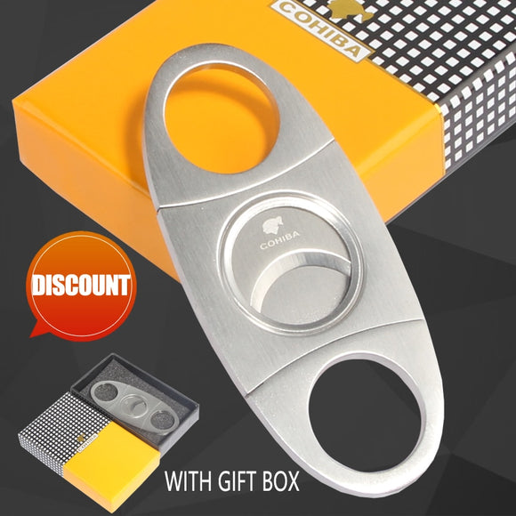 Cigar Cutter Stainless Steel Metal With Gift Box - 88digital