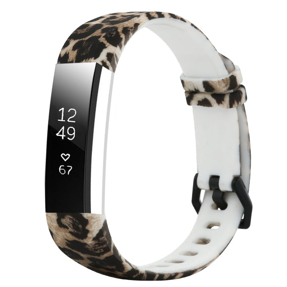 Leopard Pattern Silicone Band For Fitbit Alta HR / Alta Smart Watch Wrist Strap Bracelet For Fit Bit Alta HR Bands Replacement