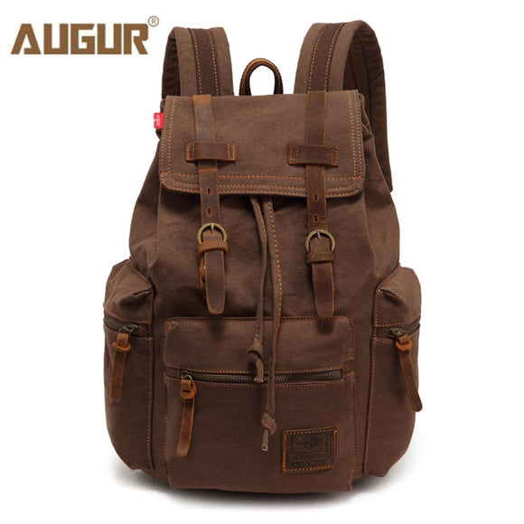 Fashion men's backpack vintage canvas backpack school bag men's travel bags large capacity travel laptop backpack bag - 88digital