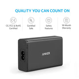 Anker 40W 5-Port USB Wall Charger, PowerPort 5 for iPhone,iPad Pro/Air,Galaxy S9/S8/Edge/Plus, Note 8/7,  Nexus HTC LG and more