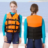 Children life vest rescue jacket whistle swimming adult/kids life jacket drifting boating rescue fishing safety water sportswear