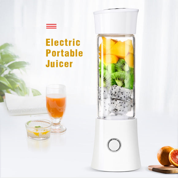 380ml Fruit Juicer Cup Electric Portable Blender Lemon Juicer Blender Squeezer Maker Mixer Bottle USB Rechargeable Drop shppingi