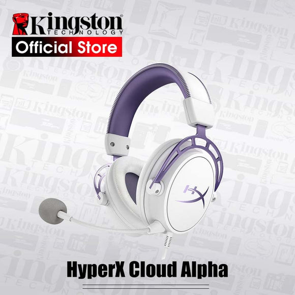 Kingston HyperX Cloud Alpha Purple Limited Edition E-sports Headphones Gaming Headset Alloy FPS RGB Keyboard Double Shot  keycap