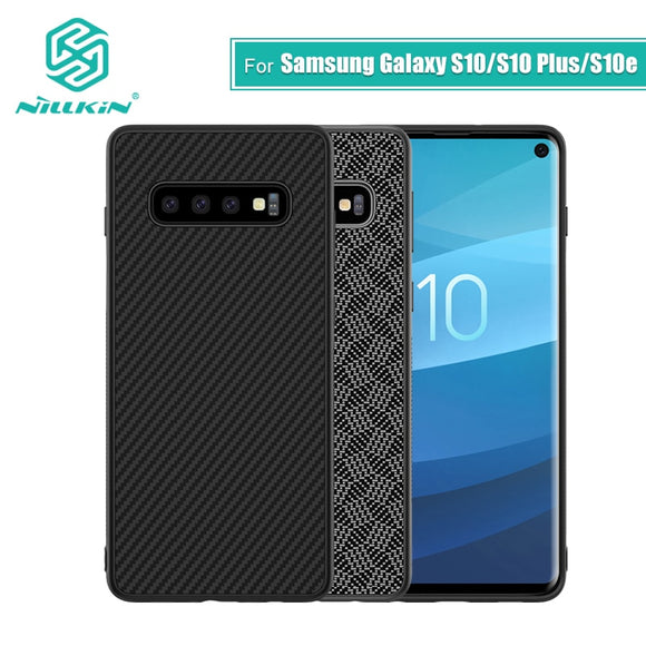 Nillkin Synthetic fiber Carbon PP Plastic Back Cover for Samsung Galaxy S10 Case 5.8'' thin for Galaxy S10 Plus / S10e case 6.1 - 88digital