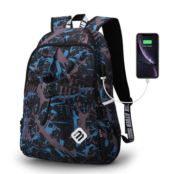 Backpack Student Water Repellent Nylon Backpack Men Material Quality Brand Laptop Bag School Backpack