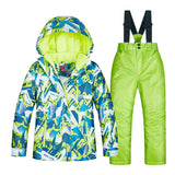 Kids Ski Suit Children Brands Waterproof Warm Girls And Boy Snow Jacket And Pants Winter Skiing And Snowboarding Clothes Child
