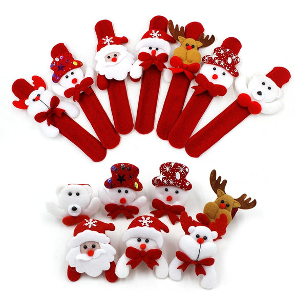 Christmas Patting Circle Bracelet Decoration for Xmas Children Gift Santa Claus Snowman Deer New Year Party Toy Decor - 88digital