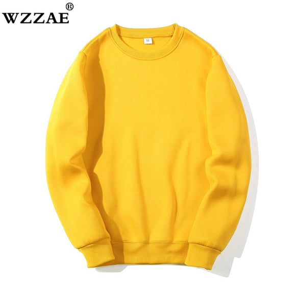 Solid Sweatshirts 2019 New Spring Autumn Fashion Hoodies Male Large Size Warm Fleece Coat Men Brand Hip Hop Hoodies Sweatshirts - 88digital