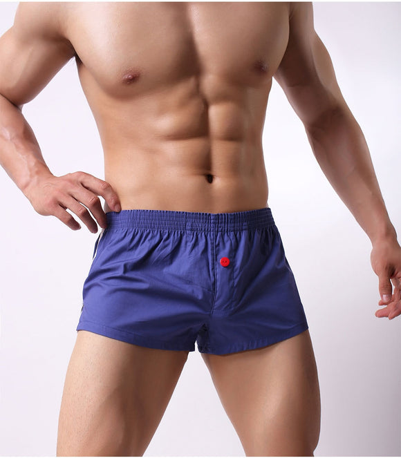 Mens solid sexy cotton low-rise arrow pants men fashion breathable skinny home stay casual  boxer underwear