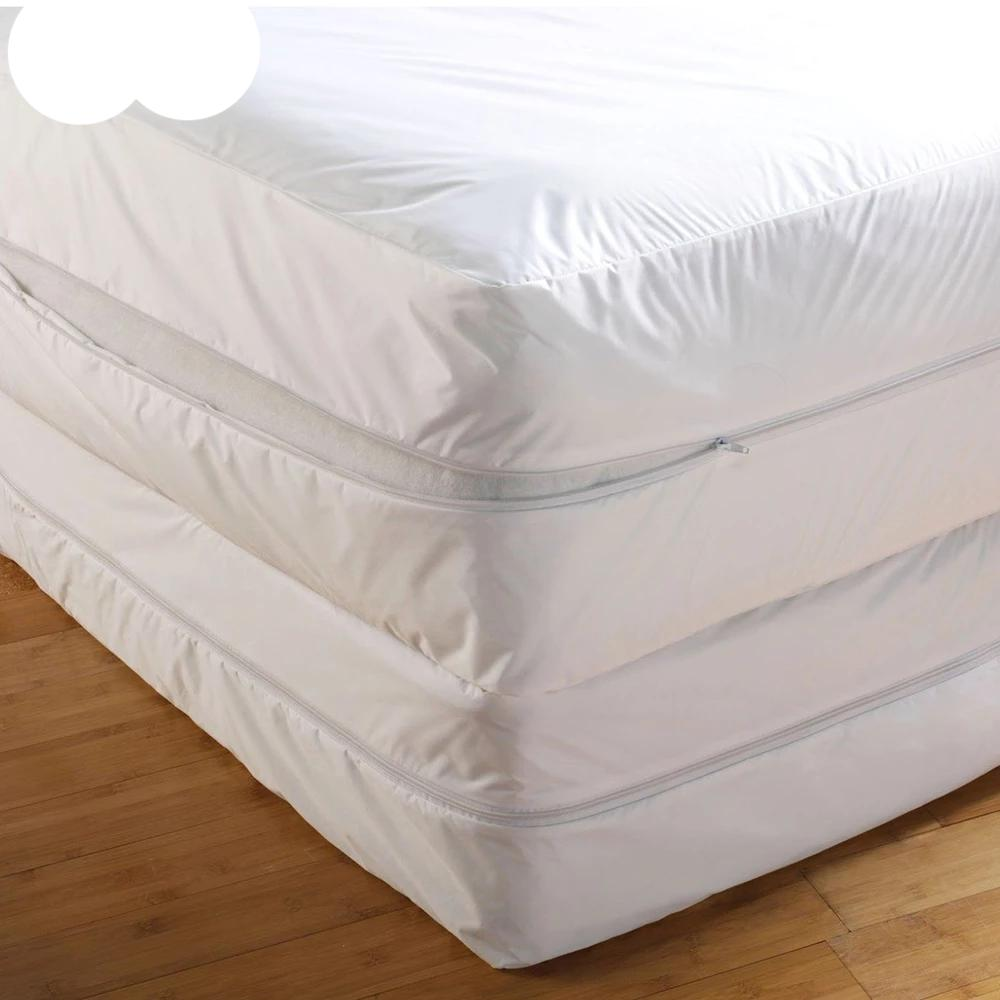 Memory Foam Mattress Topper With Zip Knitted Cover Cool Chiffon Easy Remove /& Wash