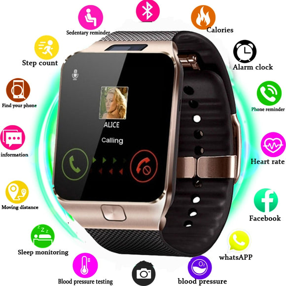 Smartwatch DZ09 Smart Watch Support TF SIM Camera Men Women Sport Bluetooth Wristwatch for Samsung Huawei Xiaomi Android Phone