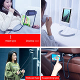 Baseus Flexible Lazy Neck Phone Holder Stand For iPhone Samsung Xiaomi Tablet Cell Phone Desk Mount Bracket Mobile Phone Holder