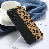 KISSCASE Leopard Print Phone Case For iPhone 7 6 6s 8 Plus Luxury Luminous Case For iPhone X XS Max XR 5 5S SE Hard Covers Coque